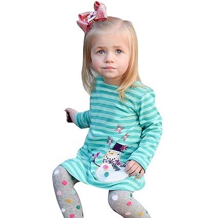 2c89dbaa19b45 人気 ベビー服 子供服 ワンピース 子供服 クリスマス雪だるま ストライプ ワンピース おしゃれ キッズ服 女の子 秋