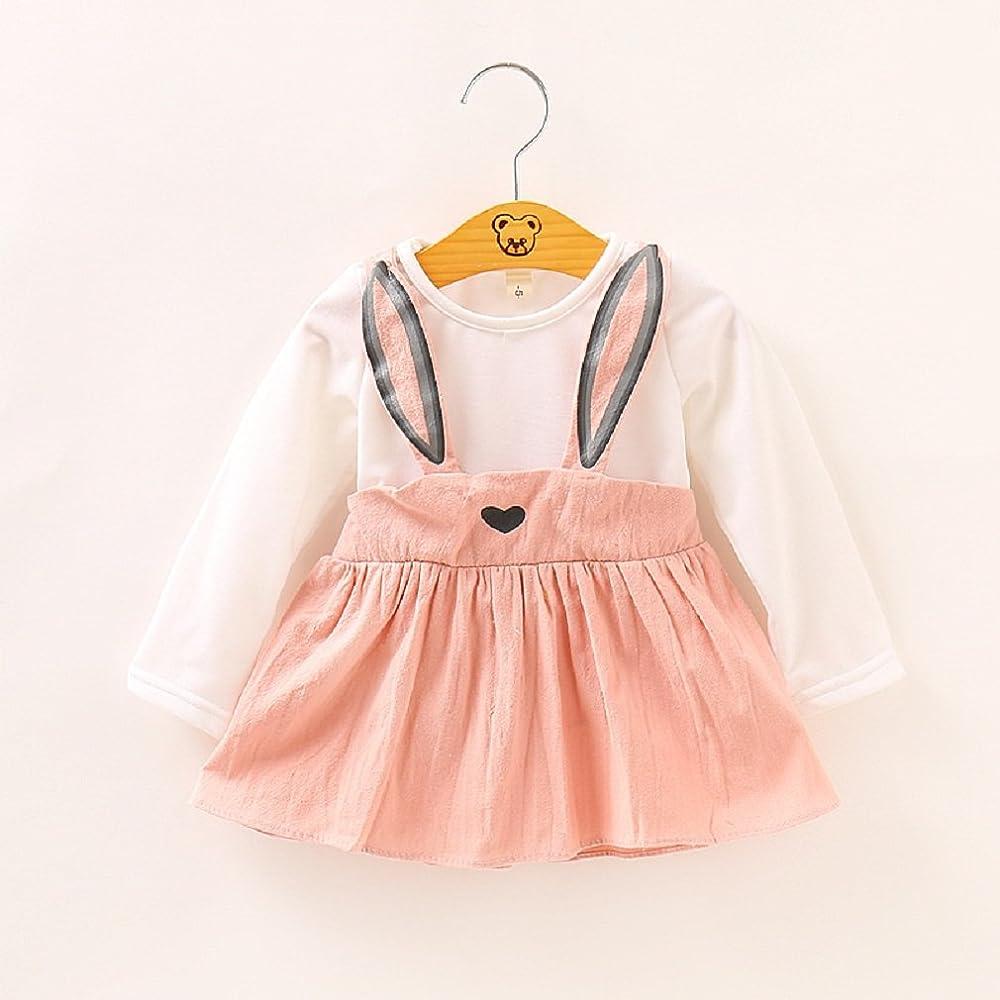 Vestidos De Bebé Niñas, Allskid Otoño Manga Larga Lindo Conejo ...