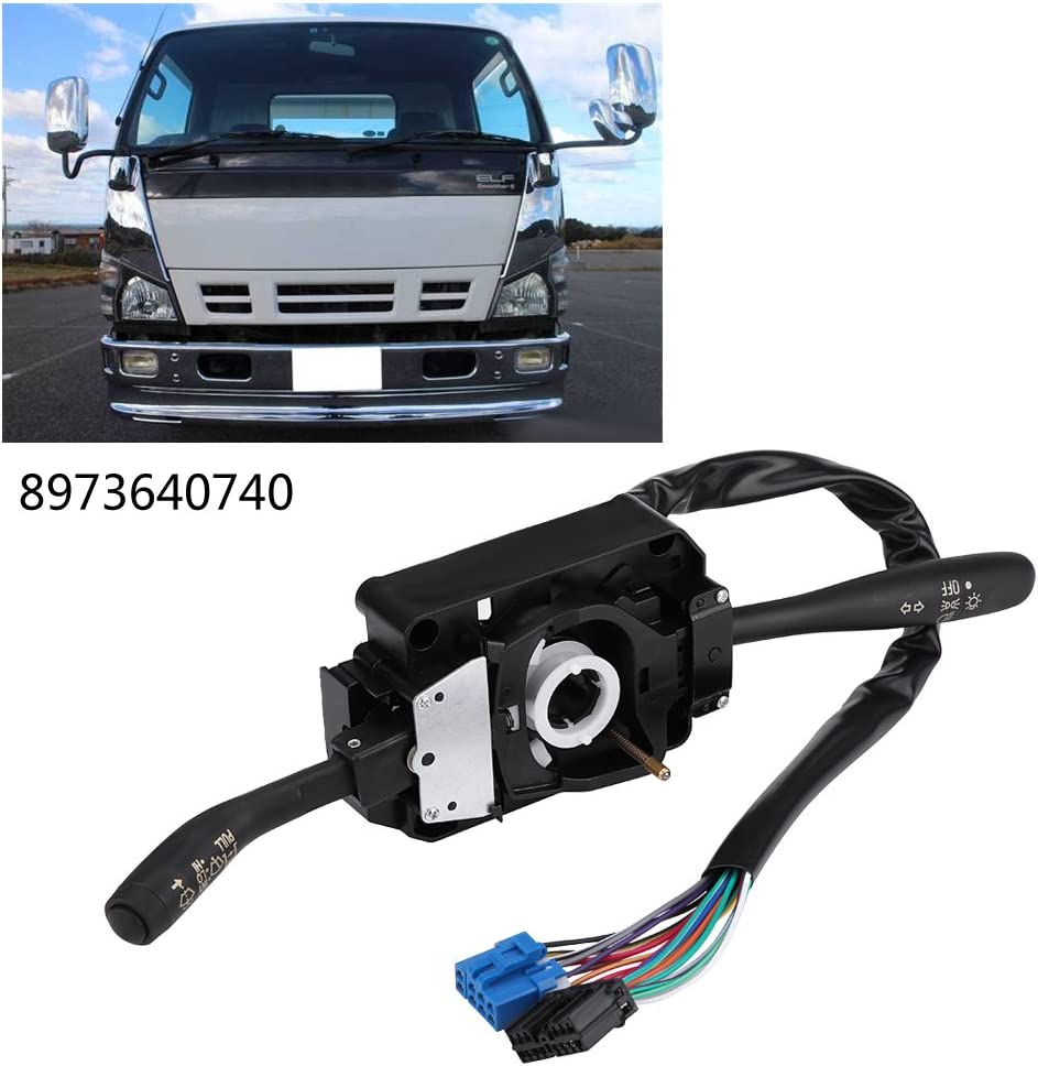 Wiper Column Stalk Switch Multi-Function Turn Signal Indicator Wiper Control Combination Switch for Isu-zu NPR NPR NQR G M C 8973640740