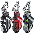 Top Flite Complete Golf Club Set Mens 2018 XL w/6-Way Stand Bag Regular Flex RH