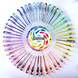 #8: Gshine 60 Coloring Gel Pens Set - Premium Ink Coloring Pens with Case for Adult Coloring Books Drawing Writing Including Glitter Neon Metallic (No Duplicate)