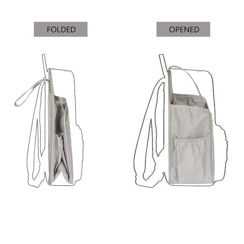 HyFanStr Nylon Backpack Organizer Insert Zipper Rucksack Organizer Insert Backpack Divider Diaper Bag Organizer for Travel