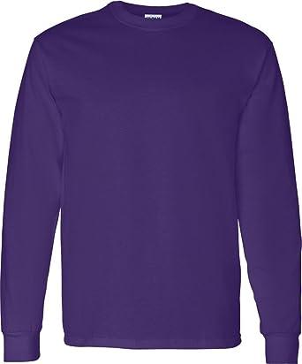 544929a8 Gildan Heavy Cotton 5.3 oz. Long-Sleeve T-Shirt. G540: Amazon.co.uk ...