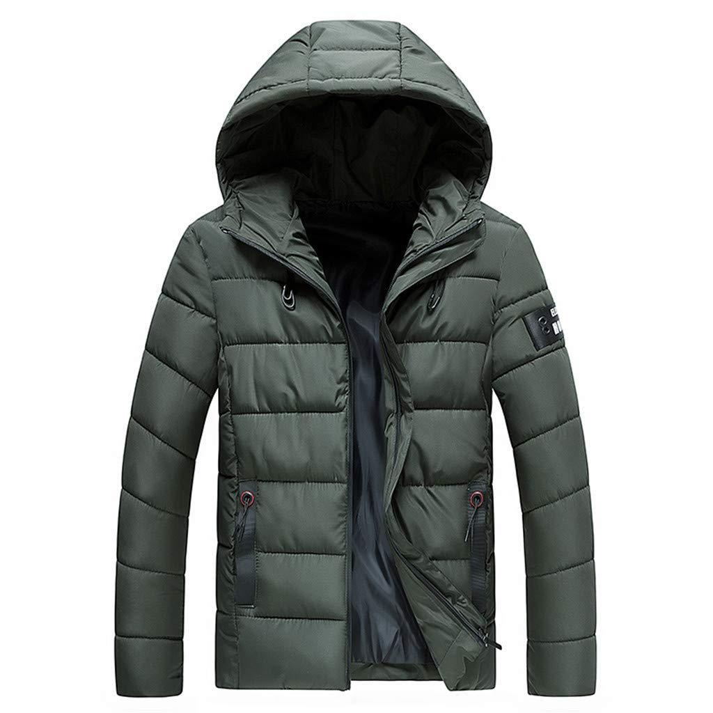 Pervobs Men's Warm Winter Snow Coat Mountain Windbreaker Hooded Raincoat Softshell for Windproof Soft Coat Jacket(3XL, Green) by Pervobs Men Coat&Jacket