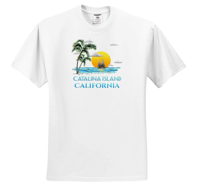 - T-Shirts Nautical Sailing Beach Design for The Catalina Islands California Islands 3dRose Macdonald Creative Studios