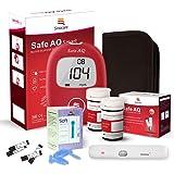 sinocare Medidor de glucosa en sangre/Glucosa en sangre kit de control de la diabetes kit con Codefree tiras x 50 y caja…
