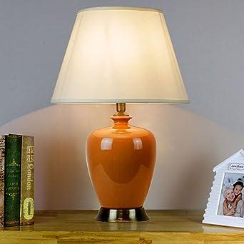 Leselicht Keramik Oval Tischlampe 4 Farben E27 Tischlampe Moderne
