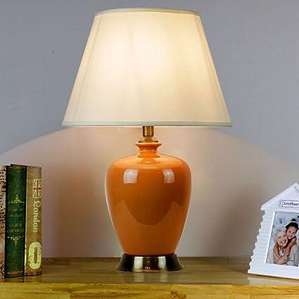 &La lámpara de mesa Lámpara de mesa ovalada de cerámica, 4 ...