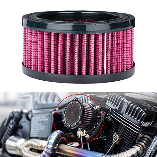TUINCYN Universal Motorcycle Air Filters Air Intake Filters For Harley Sportster XL883 XL1200 2004-2015 (Pack of 1):