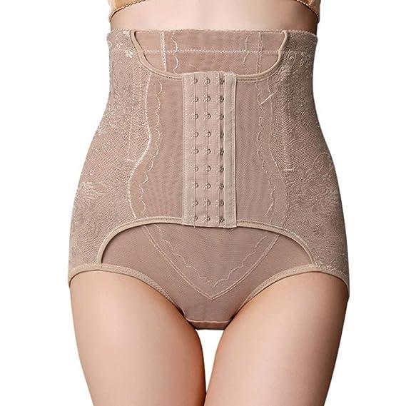 Cinnamou Ropa interior que adelgaza Abdomen cintura alta Cincher cadera cuerpo corsé pantalones de control (