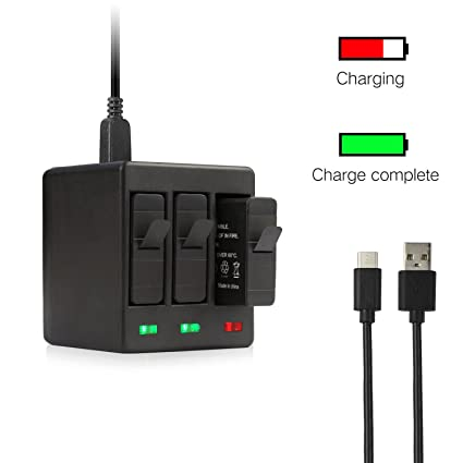 Sports Camcorder Cases Shoot Usb Three Ports Battery Charger With Usb Cable For Gopro Hero 6 5 7 Black Action Camera For Go Pro Hero 6 5 7 Accessories