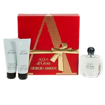 8b5346b78ec690 Giorgio Armani Acqua Di Gioia Pour Femme 50ml Eau De Parfum - 75ml Shower  Gel -