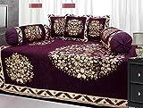Ab Home Decor Floral Design Chenille Fabric Wine Diwan set,Set of 8