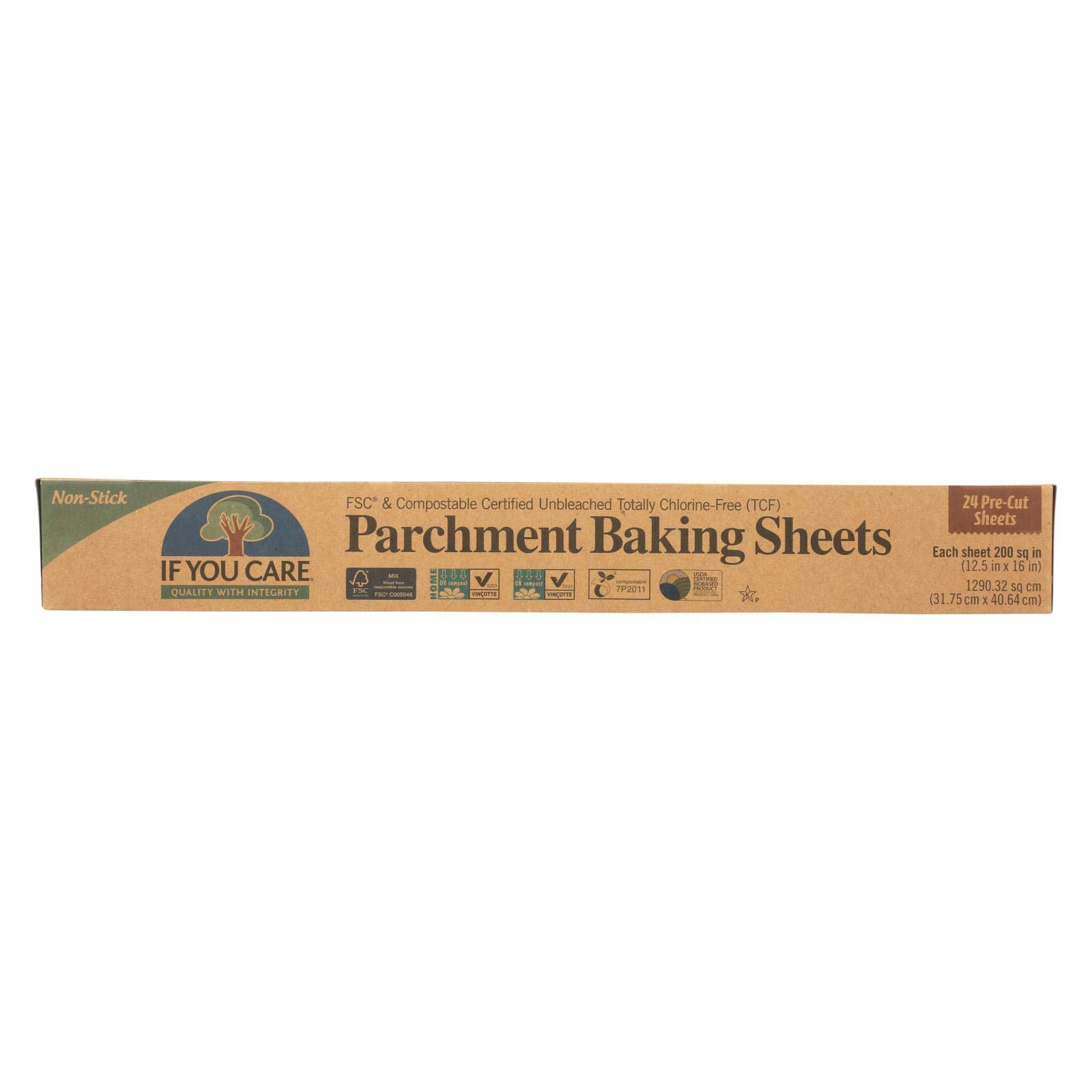 If You Care Parchment Baking Sheet - Paper - Case of 12 - 24 Count by If You Care