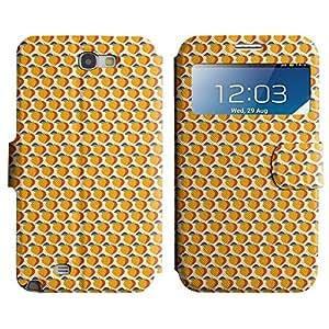 Be-Star Diseño Impreso Colorido Slim Casa Carcasa Funda Case PU Cuero - Stand Function para Samsung Galaxy Note 2 II / N7100 ( Orange Fruit )