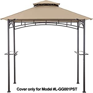 MASTERCANOPY Grill Gazebo Shelter Replacement Canopy Cover ONLY FIT for Gazebo Model L-GG001PST-F (Beige)
