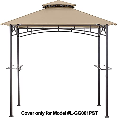 MasterCanopy Grill Gazebo Shelter Replacement Canopy Cover ONLY FIT for Gazebo Model L-GG001PST-F Beige