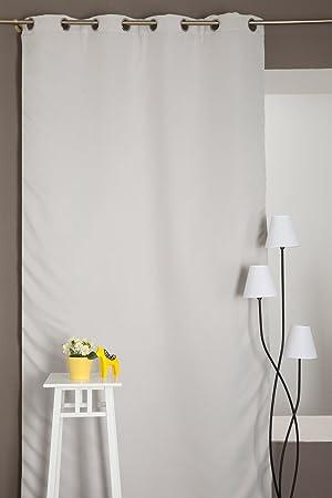 Élégant Rideau Anti-Bruit Phonique Occultant 135 x 240 cm à Œillets ...