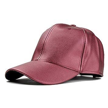 SRY otoño e Invierno para Mujer Sombrero de Cuero Sombrero Casual Motocicleta Gorra de béisbol para Mujer Personalidad Sombrero Personalidad y Moda: ...