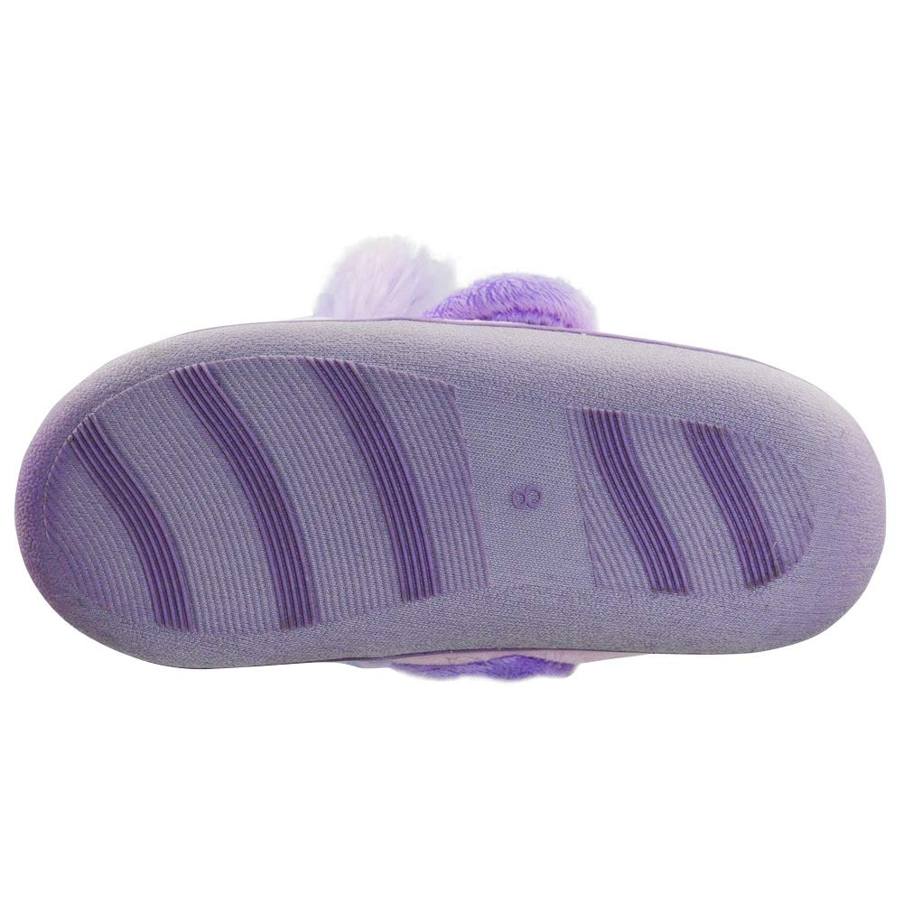LA PLAGE Girls Indoor//Outdoor Warm Non-Skid Cozy House Slippers with Memory Foam and Hardsole