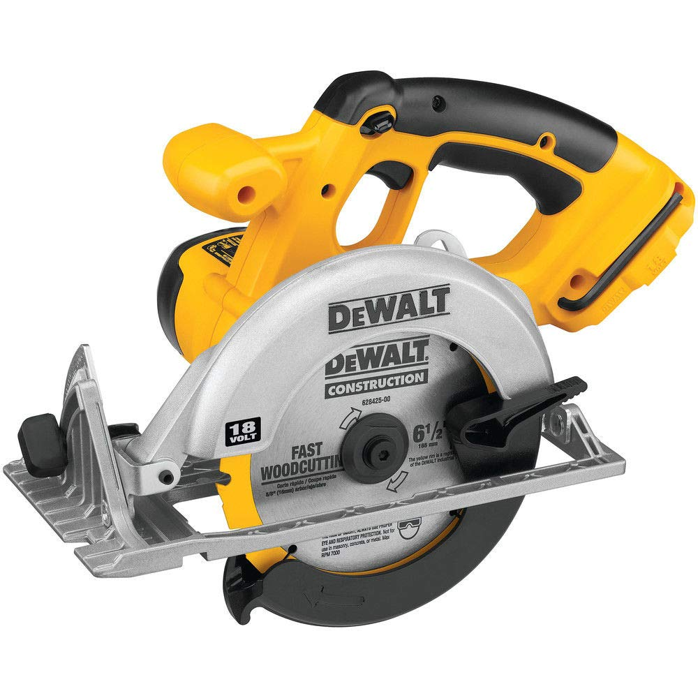 DEWALT Bare-Tool DC390B 6-1/2-Inch 18-Volt Cordless Circular Saw (Tool Only, No Battery)