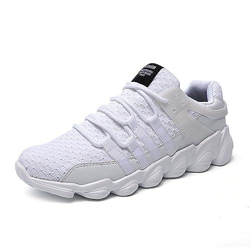 Zapatillas de Deporte Hombres Zapatos de Gimnasia para Caminar de Peso Ligero Negro Gris Blanco 39-46: Amazon.es: Zapatos y complementos