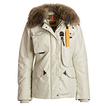 Parajumpers Denali Real Fur Womens Jacket - Large/Chalk