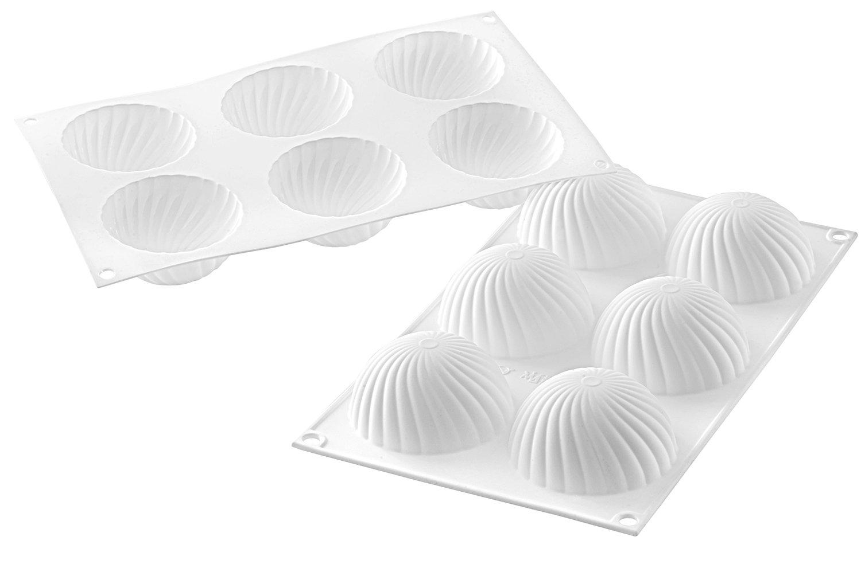 Silikomart Moule silicone demi-sph/ères vrill/ées /Ø 75 mm