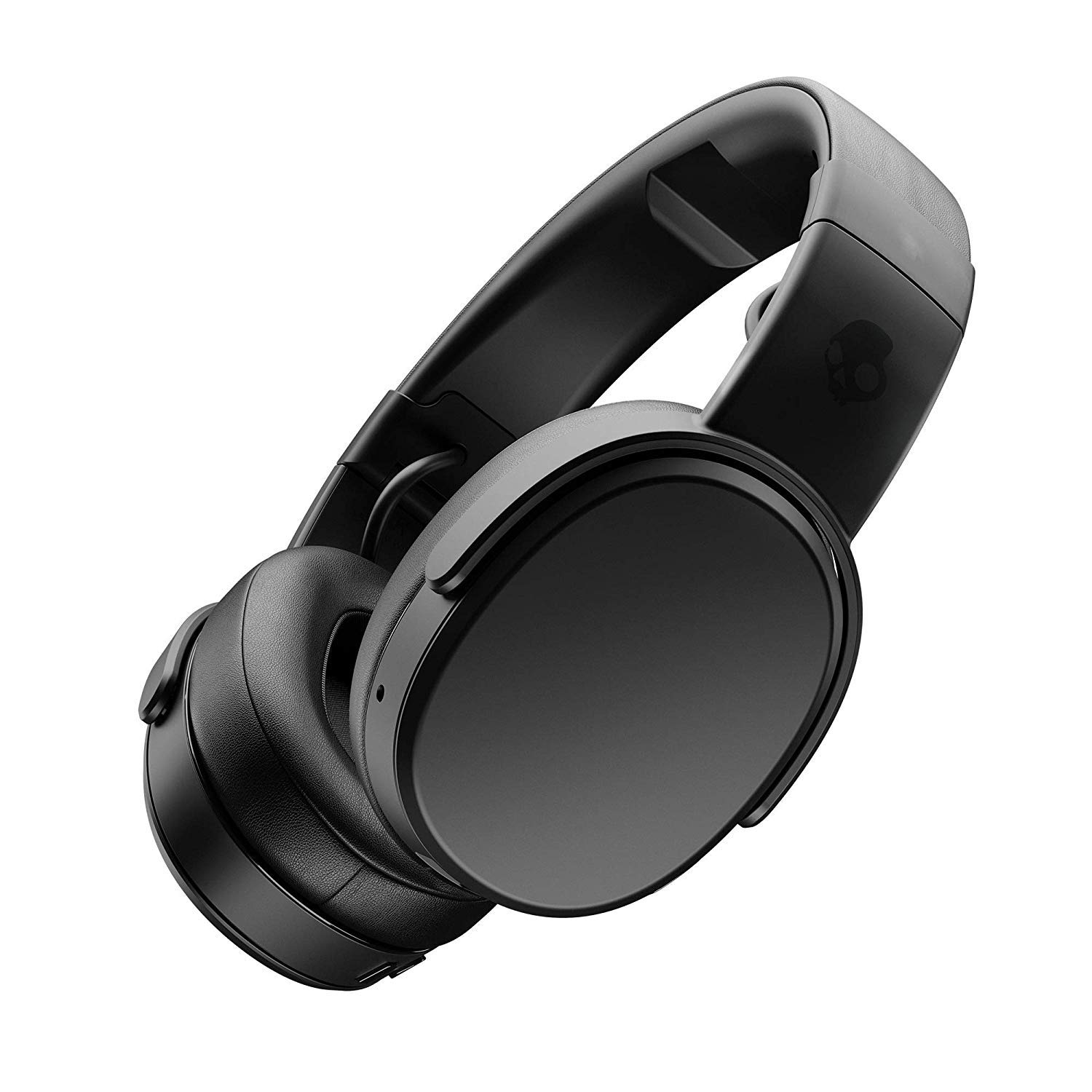 Skullcandy Crusher Bluetooth Wireless Over-Ear Headphone with Microphone, Noise Isolating Memory Foam, Adjustable and Immersive Stereo Haptic Bass, Rapid Charge 40-Hour Battery Life, Black by Skullcandy