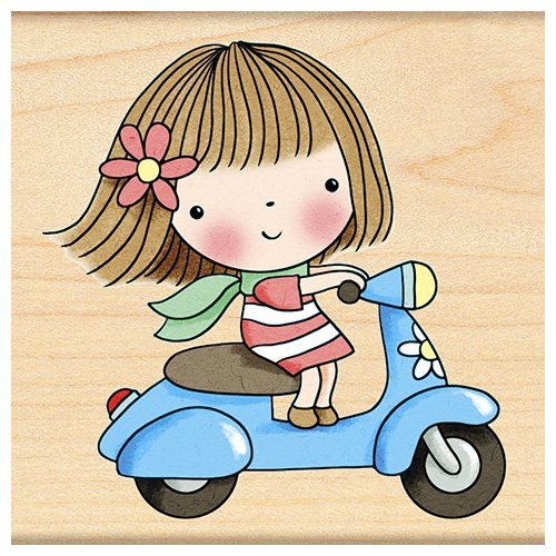 Penny Black Decorative Rubber Stamps, Scooter Mimi by Penny Black Inc