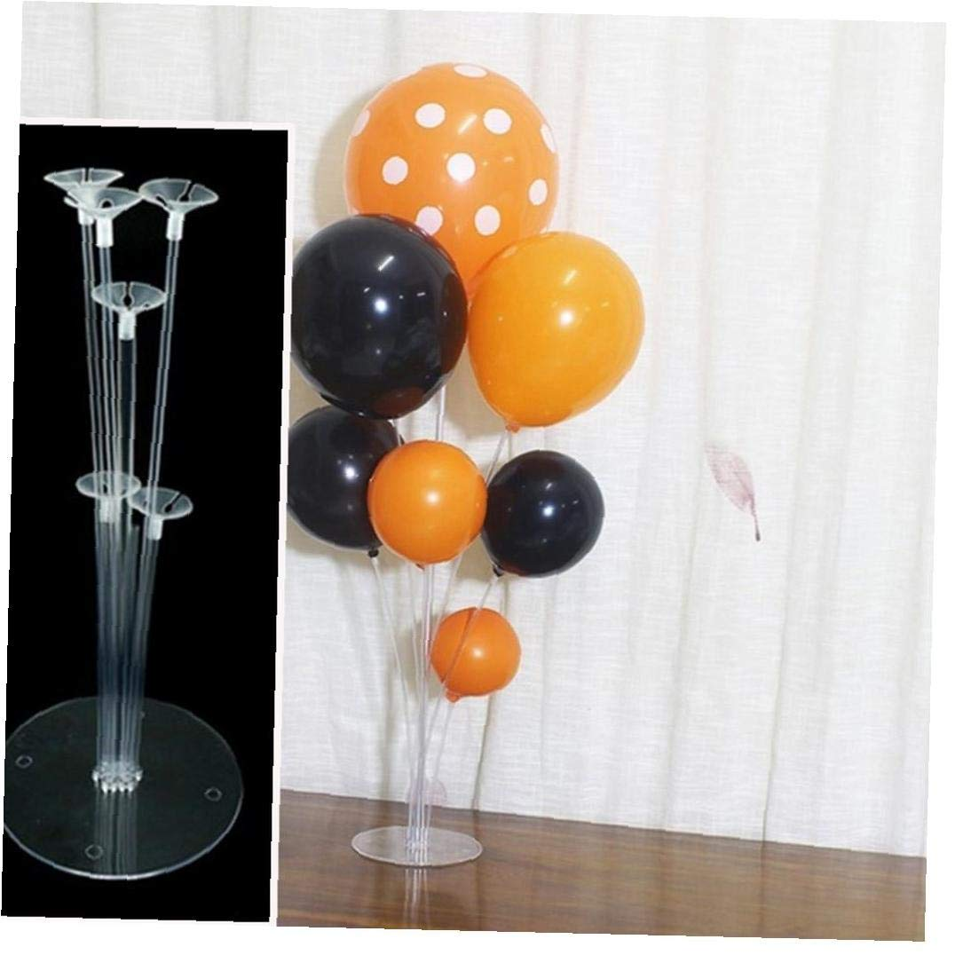 1 Set Balloons Holder Stand Colonna Di Plastica Trasparente Balloon Stick Table Floating Display Stand Wedding Birthday Party Decor