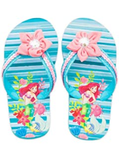 7180781cc089 Shop Disney Ariel Little Mermaid Flip Flops Sandals for Girls - Beach Pool  (7