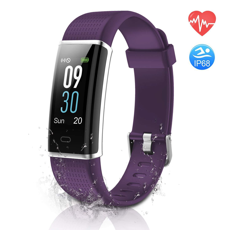 ESOLOM Pulsera Actividad, IP68 Impermeable Pantalla Color Fitness Tracker,Frecuencia Cardíaca/Monitor de Sueño, Podómetros con 14 Modos de ...
