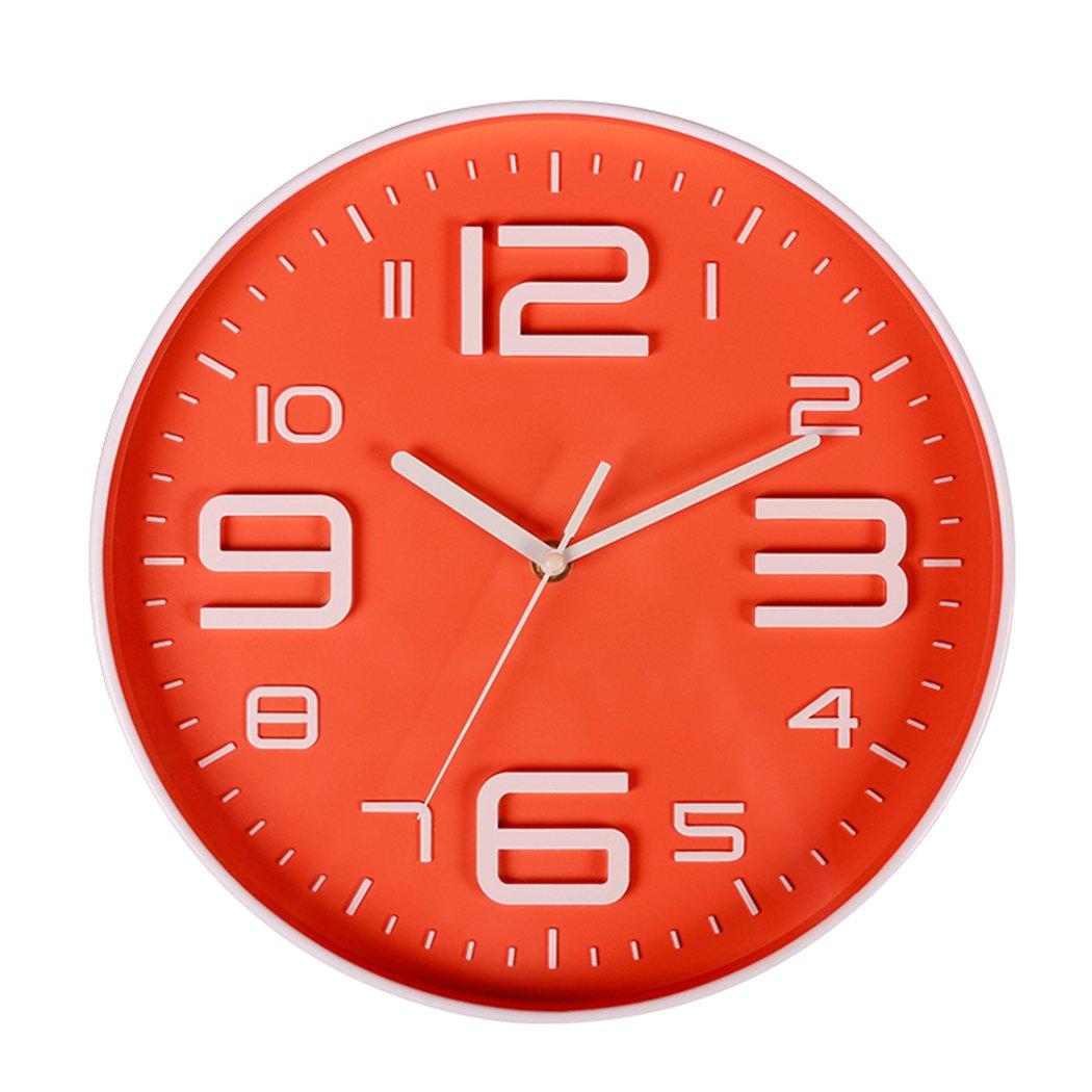 10 Big 3d Number Quartz Silent Non Ticking Wall Clock Quiet Sweep