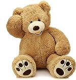 MorisMos Giant Teddy Bear with Big Footprints Plush Stuffed Animals Light