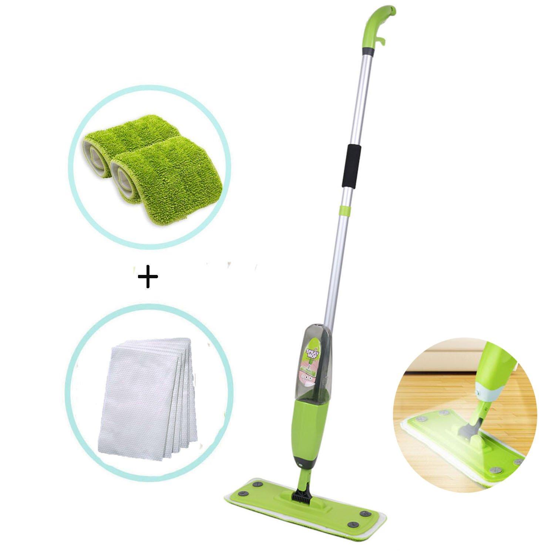 Ezeagbor Floor Spray Mop, 3-in-1 Spray Mop Kit, Reusable Microfiber Pads 360 Degree Professional Handle Mop, Home Kitchen Hardwood Laminate Wood Ceramic Tile Cleaning Tool