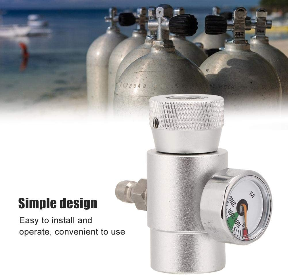 Simlug CO2 Cylinder Refill Adapter Connector Gas Soda Regulator with 3000 Gauge Tool Accessory for Home Office Enjoy Soda at Home
