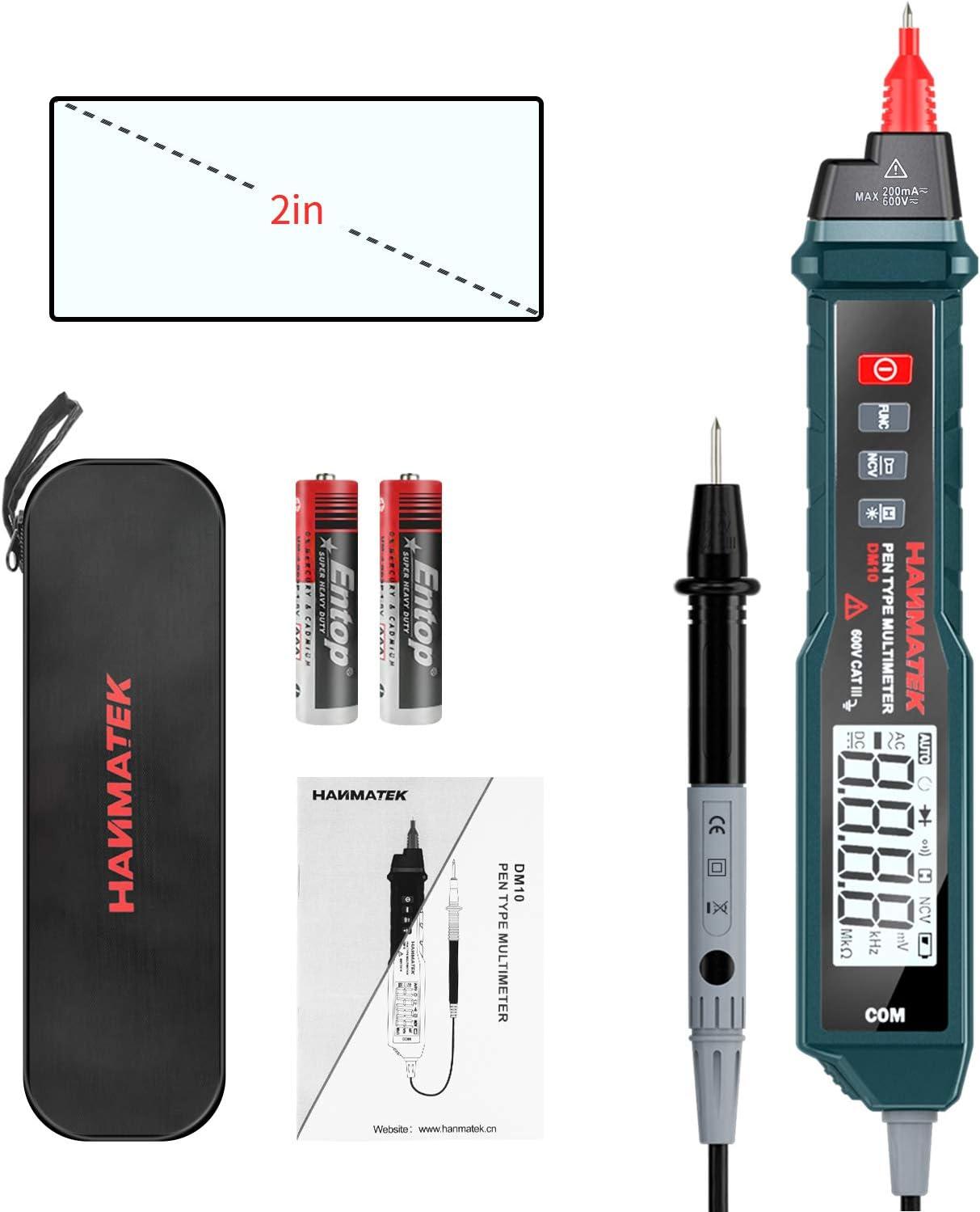 Digital Multimeter Hanmatek Dm10 Digitaler Spannungsprüfer Auto Range True Rms Ac Dc Volt Advanced Current Detector Multimeter Mit Hintergrundbeleuchtung Baumarkt