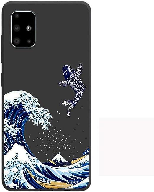 Ququcheng Funda Compatible con Samsung Galaxy A51//M40S,Cuerda Carcasa TPU Bumper Silicona Ajustable Collar Correa de Cuello Cord/ón Skin Caso para Samsung Galaxy A51//M40S-Rose Oro