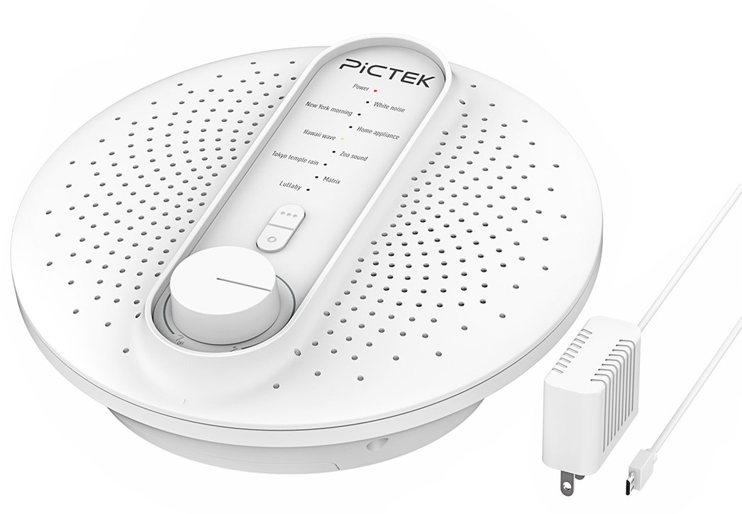 Sound Machine, PICTEK White Noise Macine with 24 Soothing Natural Sounds Sleep Therapy,Baby Sleep Soothers Timer for for Travel, Relaxing, Kids, Newborns, Toddlers