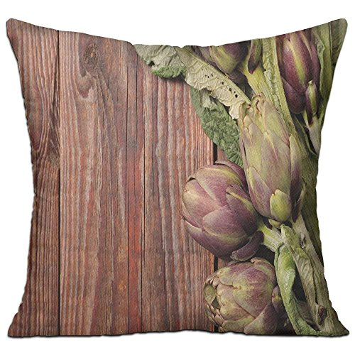 Artichoke Freshly Picked Vegetables Healthy Vegan Option Going Green Decorative Redwood Dried Rose And Fern Green House Decor Throw Pillow Cover 18