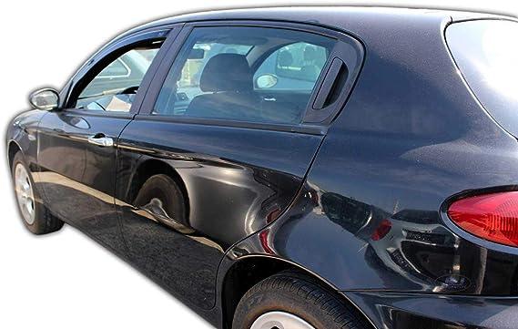 J J Automotive Windabweiser Regenabweiser Für Alfa Romeo 147 5 Türer Ab 2001 2tlg Heko Dunkel Auto