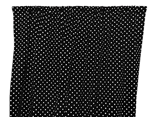Zen Creative Designs Premium Cotton Small Polka Dot Curtain Panel / Home Window Decor / Window Treatments / Small / Dots / Spots (58 Inch x 36 Inch, White Black)