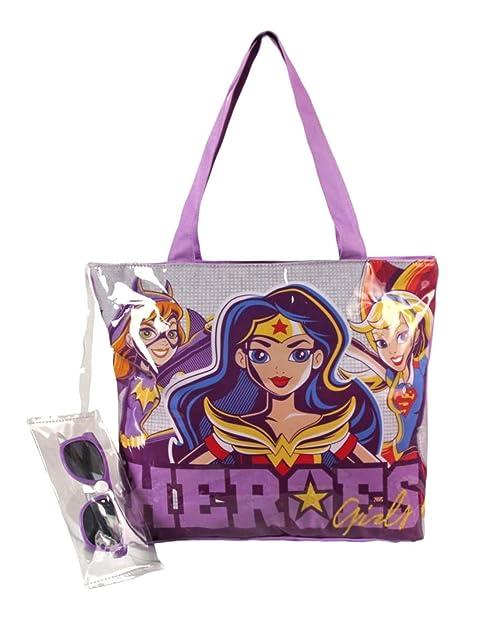 c94c83ed00 DC Super Hero Girls , Borsa Bambina, Grigio (grigio/viola), Taglia unica:  Amazon.it: Scarpe e borse