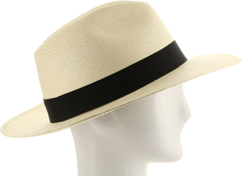 Gatsby Fedora Panama Hat Natural Straw Stylish SZ