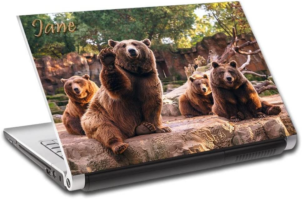 Bears Animals Personalized LAPTOP Skin Cover Decal Vinyl Sticker L780, 17