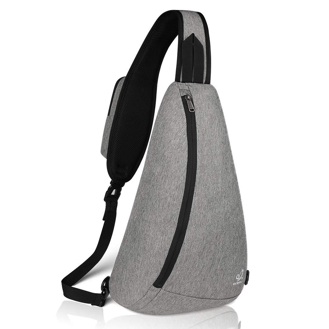 Waterfly Sling Chest Backpacks Bags Crossbody Shoulder Triangle Packs Daypacks for Cycling Walking Dog Hiking Boys Girls Men Women (Gray)
