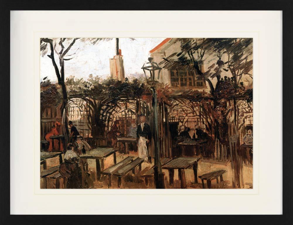 1art1 Vincent Van Gogh Gartenlokal La Guinguette Auf Montmartre 1886 Gerahmtes Poster F/ür Fans Und Sammler 40 x 30 cm