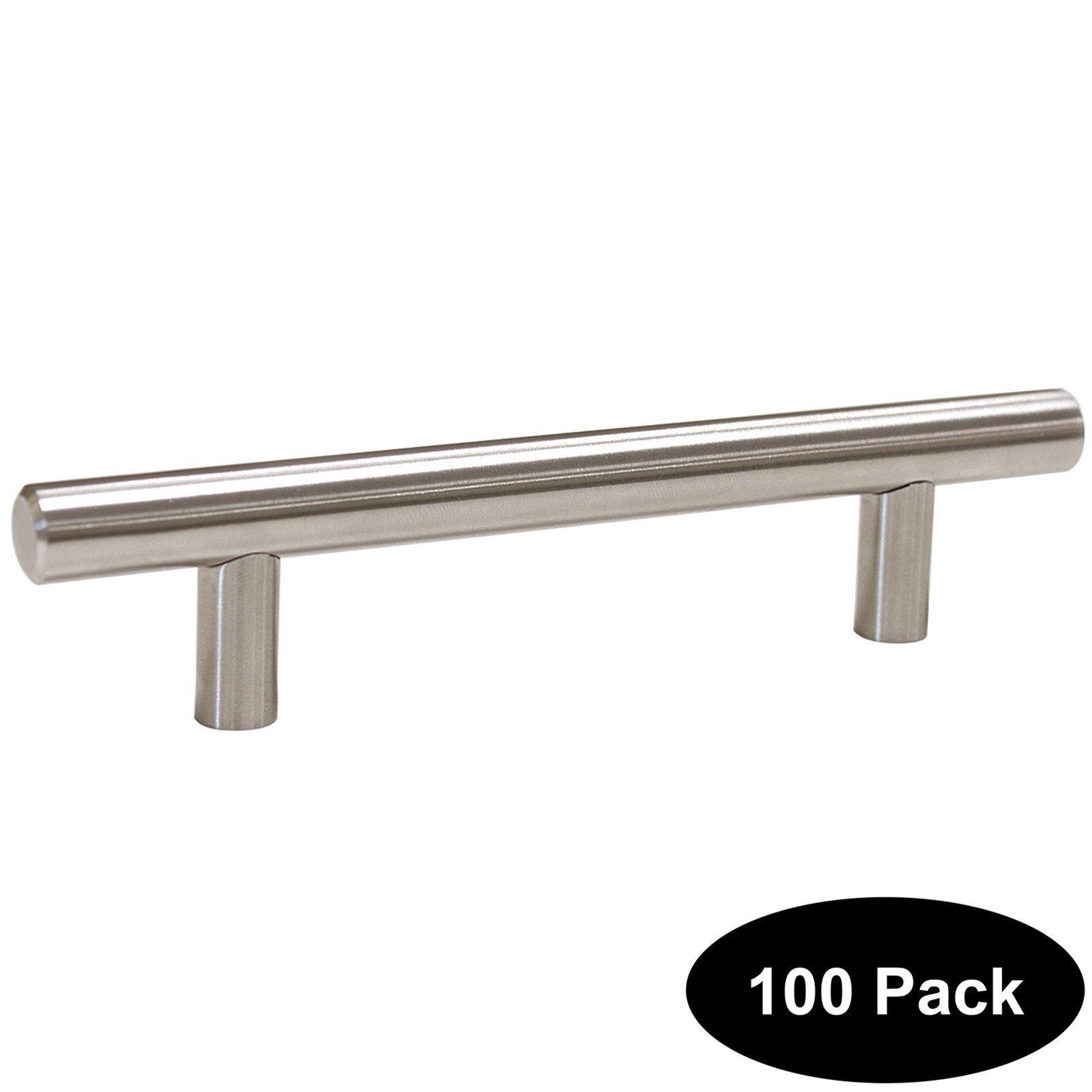 100 PCS 96mm(3.75inch) Hole Centers Stainless Steel Kitchen Cabinet Door Handles and Pulls Cabinet Knobs Length 150mm(6inch) Brushed Nickel