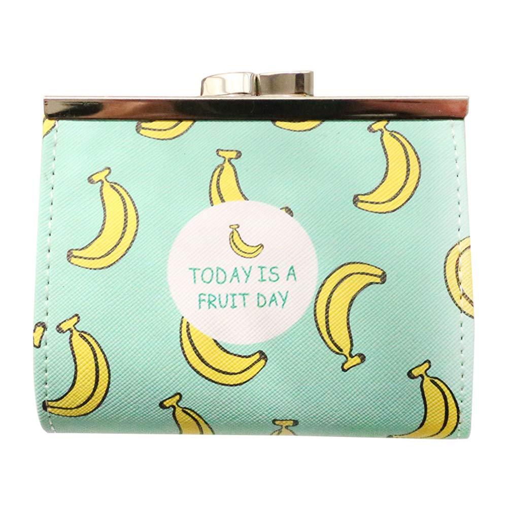 Cosanter Porta Monete,In Pu Pelle,Borda Ragazza,Portafoglio Per Bambina Modello Di Banana Frutto Carino